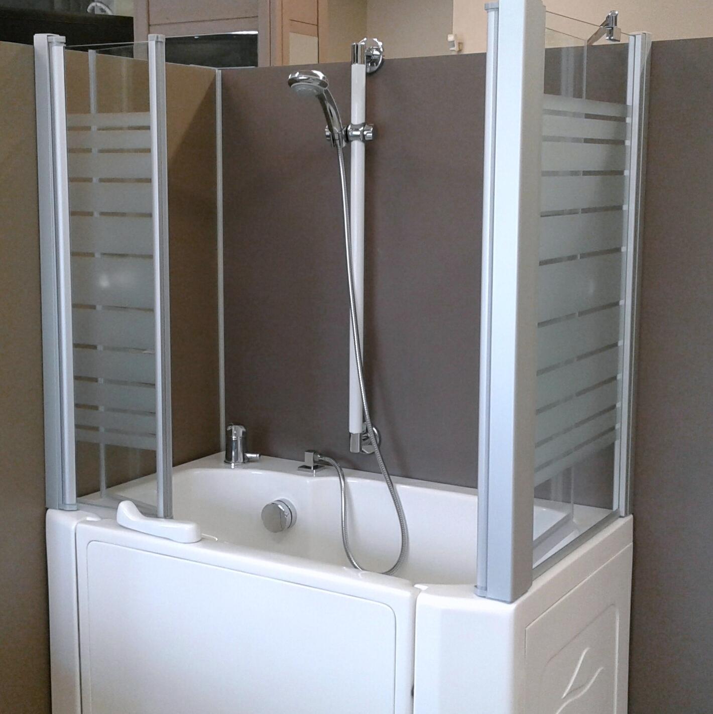 Docce per anziani e disabili sostituzione vasca in doccia - Box doccia con sedile ...